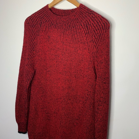 Calvin Klein Sweaters - Calvin Klein Black & Red Long Knot Sweater Large